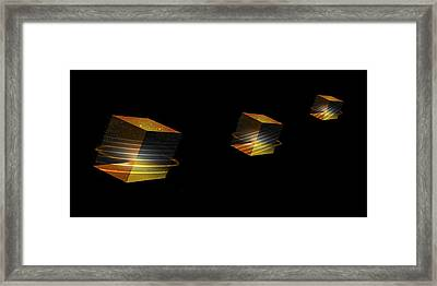 Cube Trails Framed Print