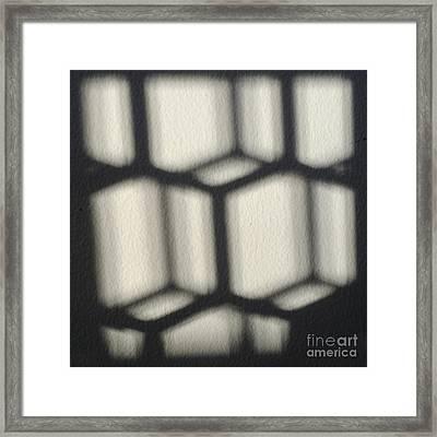 Cubes Framed Print by Luke Moore