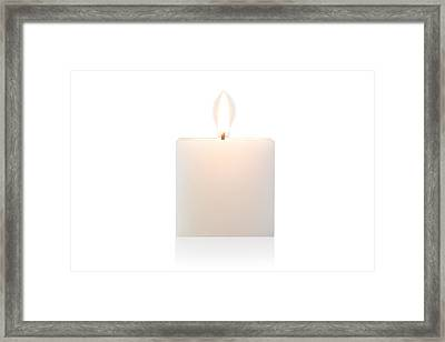 Cubic Burning Candle  Framed Print