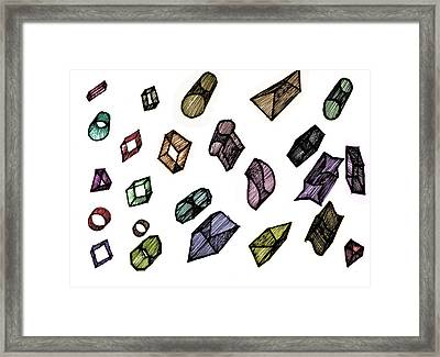 Cubical Thoughts Framed Print by Sumit Mehndiratta