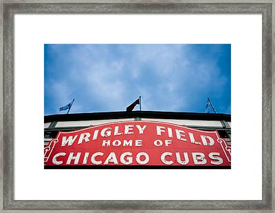 Cubs Sign Framed Print