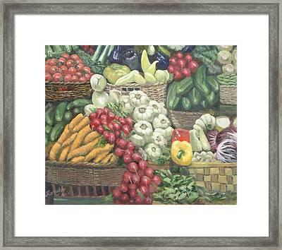 Cucumbers Please Framed Print by Joseph Carragher