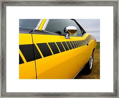 Cuda Stripes Framed Print