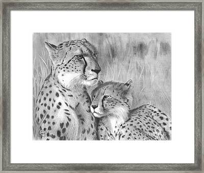 Cuddle Framed Print