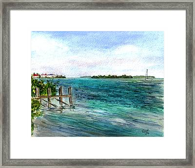 Cudjoe Bay Framed Print
