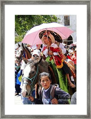 Cuenca Kids 103 Framed Print by Al Bourassa