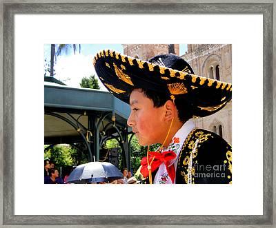 Cuenca Kids 105 Framed Print by Al Bourassa