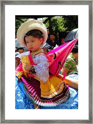 Cuenca Kids 116 Framed Print by Al Bourassa