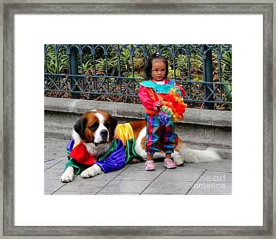 Cuenca Kids 124 Framed Print by Al Bourassa