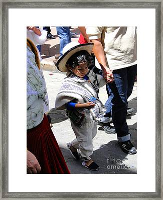 Cuenca Kids 130 Framed Print by Al Bourassa