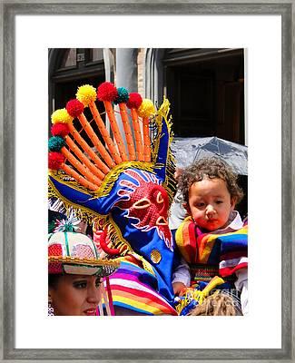 Cuenca Kids 132 Framed Print by Al Bourassa