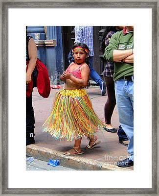 Cuenca Kids 134 Framed Print by Al Bourassa