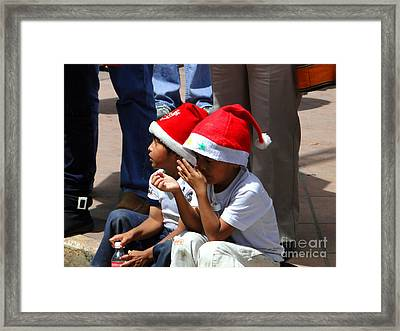 Cuenca Kids 135 Framed Print by Al Bourassa