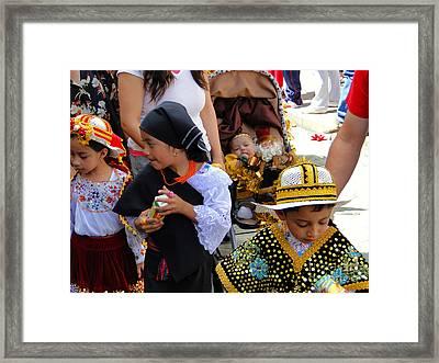 Cuenca Kids 149 Framed Print by Al Bourassa