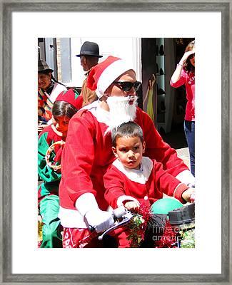 Cuenca Kids 154 Framed Print by Al Bourassa