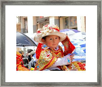 Cuenca Kids 159 Framed Print by Al Bourassa
