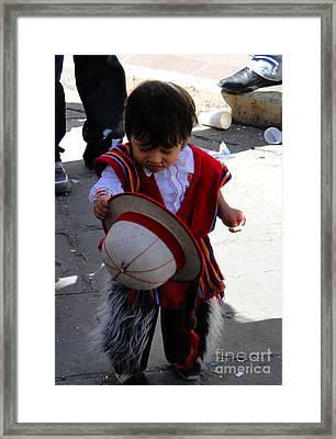 Cuenca Kids 164 Framed Print by Al Bourassa