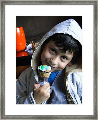 Cuenca Kids 178 Framed Print by Al Bourassa