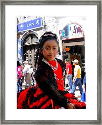 Cuenca Kids 186 Framed Print by Al Bourassa