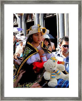 Cuenca Kids 188 Framed Print by Al Bourassa
