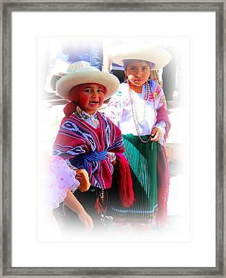 Cuenca Kids 191 Framed Print by Al Bourassa