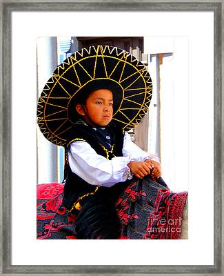 Cuenca Kids 194 Framed Print by Al Bourassa