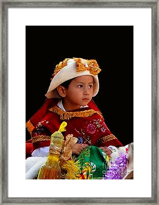 Cuenca Kids 196 Framed Print by Al Bourassa