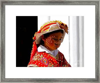Cuenca Kids 198 Framed Print by Al Bourassa