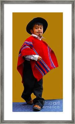 Cuenca Kids 204 Framed Print by Al Bourassa