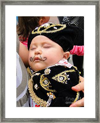 Cuenca Kids 21 Framed Print by Al Bourassa