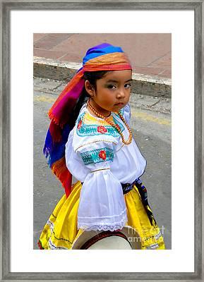 Cuenca Kids 210 Framed Print by Al Bourassa