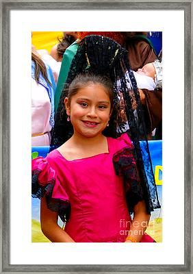 Cuenca Kids 213 Framed Print by Al Bourassa