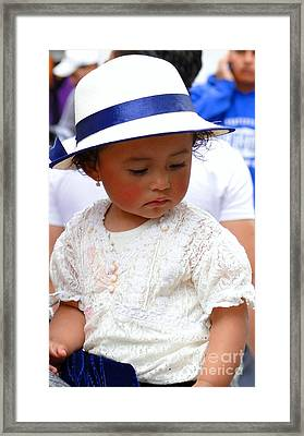 Cuenca Kids 24 Framed Print by Al Bourassa