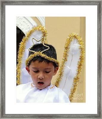 Cuenca Kids 34 Framed Print by Al Bourassa