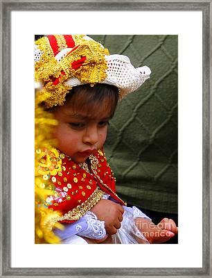 Cuenca Kids 35 Framed Print by Al Bourassa