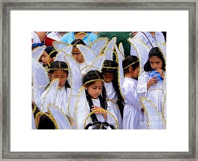 Cuenca Kids 42 Framed Print by Al Bourassa