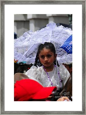 Cuenca Kids 51 Framed Print by Al Bourassa