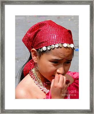 Cuenca Kids 53 Framed Print by Al Bourassa