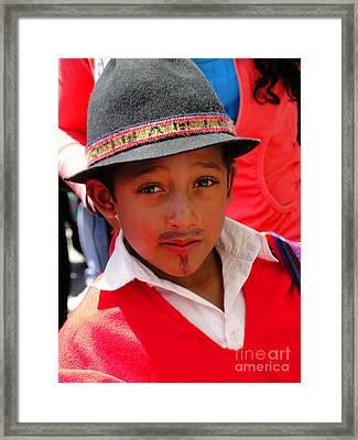 Cuenca Kids 57 Framed Print by Al Bourassa