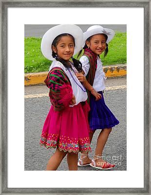 Cuenca Kids 58 Framed Print by Al Bourassa