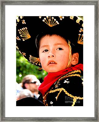 Cuenca Kids 64 Framed Print by Al Bourassa