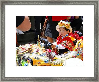 Cuenca Kids 65 Framed Print by Al Bourassa