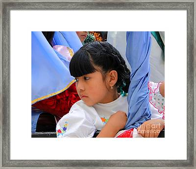 Cuenca Kids 73 Framed Print by Al Bourassa
