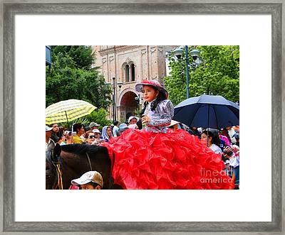 Cuenca Kids 84 Framed Print by Al Bourassa
