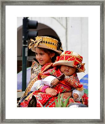 Cuenca Kids 88 Framed Print by Al Bourassa