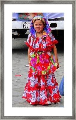 Cuenca Kids 90 Framed Print by Al Bourassa