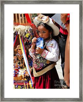 Cuenca Kids 97 Framed Print by Al Bourassa