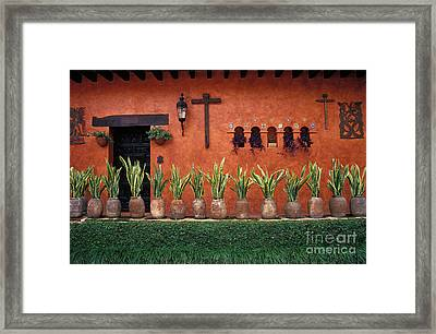 Framed Print featuring the photograph Cuernavaca Wall Mexico by John  Mitchell