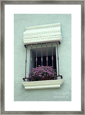 Framed Print featuring the photograph Cuernavaca Window  Mexico by John  Mitchell