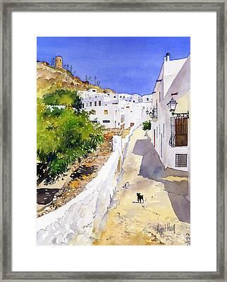 Cuesta De La Atalaya Nijar Framed Print by Margaret Merry